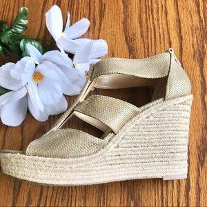 Michael Kors Wedge Platform Espadrille Shoes 9.5